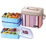 lock lock picnic lunch box bento set hpl823dp purple. Black Bedroom Furniture Sets. Home Design Ideas