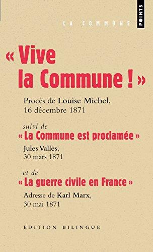 Vive la Commune ! : extraits du procs de Louise Michel, audience du 16 dcembre 1871