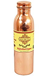 Indianartvilla Leak Proof Copper Thermos Design Travel Water Bottle 800 ML - For Good Health