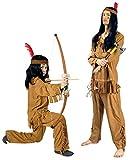 K31250677-140-152 Hell Braun Kinder Junge Indianer Kostüm Apache Sioux Gr.140-152