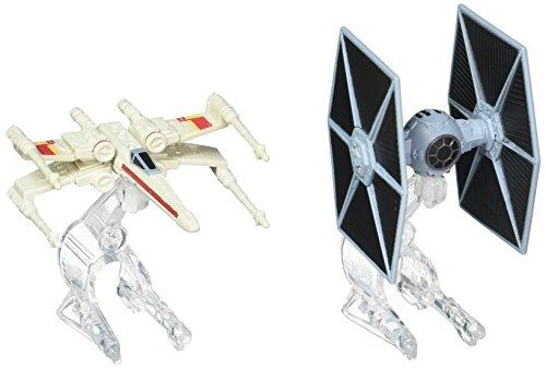 Hot Wheels Pack Naves Star Wars Tie y X-Wing (Mattel CGW91)(Modelos Surtidos)
