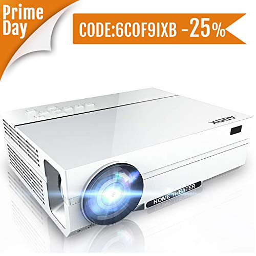 Proyector 4500 Lúmenes ABOX A6, Resolución Nativa 1920*1080P, LED Video Proyector de...