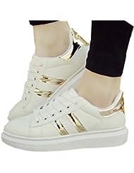 ( por favor, comprar Código de primer año)nuevos zapatos blancos mujer coreana de la marea corteza gruesa calza las zapatillas de deporte ocasional del estudiante