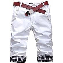 Delgado De La Manera Del Verano Deportes Ocasionales Hombres Recortadas Pantalones Cortos Nuevos Cortocircuitos Coreanos