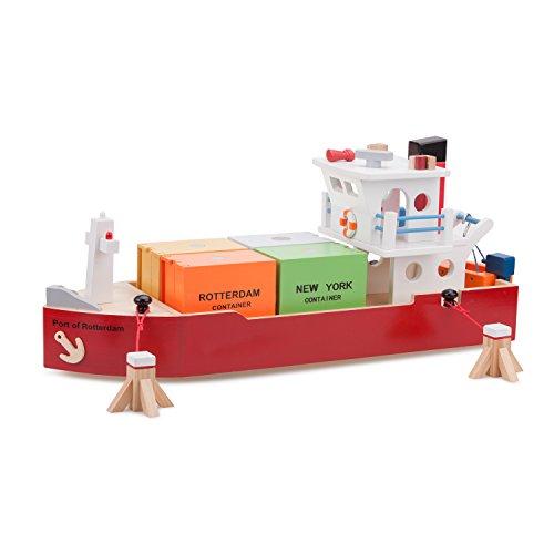 Container Schiff Holzspielzeug Schiffe und Hafen