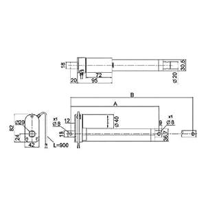 Vérin électrique Drive-System Europe 12399 24 V/DC Longueur de course 300 mm 250 N 1 pc(s)
