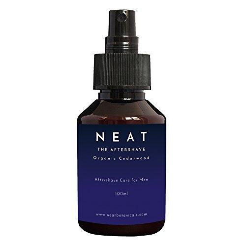 Aftershave für Männer | NEAT Aftershave 100ml | mit ZEDERNHOLZÖL und TEEBAUMÖL | Beruhigt und erfrischt gereizte Haut | natürliche Inhaltsstoffe
