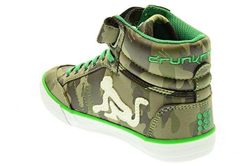 Drunnknmunky , Baskets pour fille - Verde-Marrone