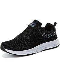 size 40 bba16 c0fdb XIGUAFR Chaussure de Course Homme a Lacet Souple en Toile Respirant Running  Chaussure de Sport en