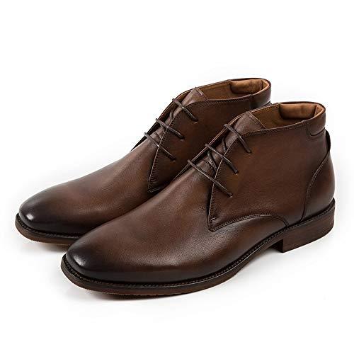 S.Y.M Stivali da Uomo Vintage Stile Britannico Stivali da Uomo in Vera Pelle Martin Stivali Invernali da Uomo di Alta qualità, Stivali da Martin per Caviglia da Uomo (Color : Brown, Size : 10-MUS)