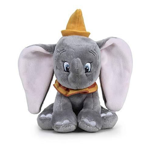 Famosa Softies- Dumbo Peluche Infantil en Forma de Elefante Licencia Disney, Color Gris, 17 cm (760017355)
