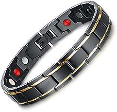 University Trendz 18 K Gold Plated Titanium Health Care Therapy Bio Energy Bracelet For Men