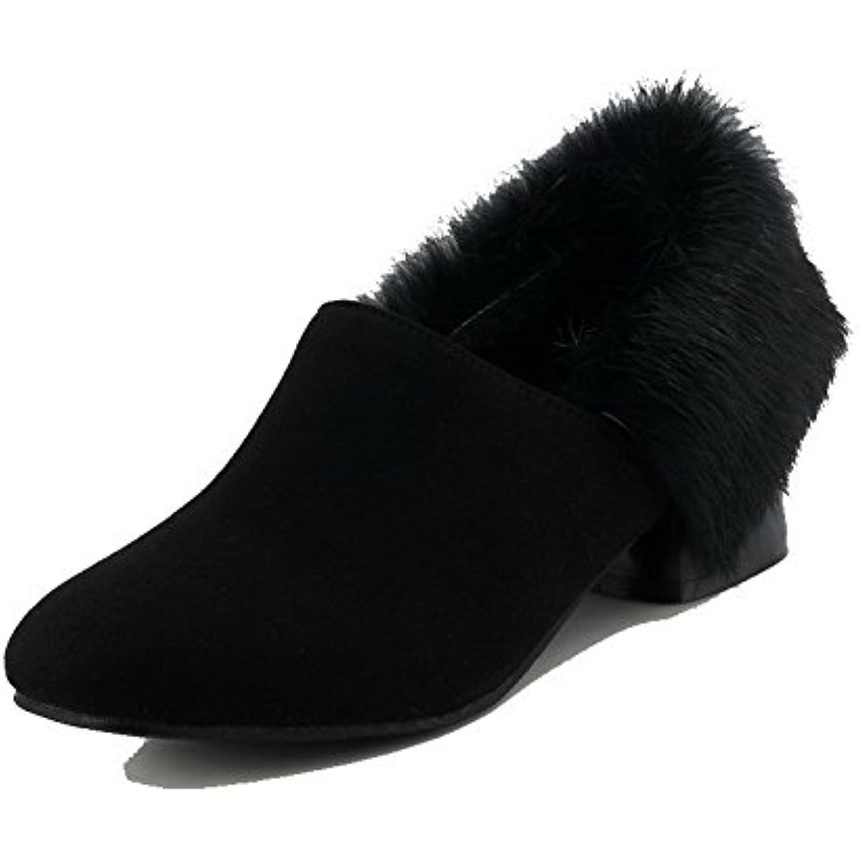 AgooLar Femme Duvet - Tire Couleur Unie Chaussures Légeres - B07D7PV5XN - Duvet f08fa6