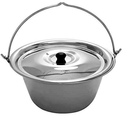 Gulaschkessel 20 Liter Edelstahl, 1 mm Materialstärke und Deckel