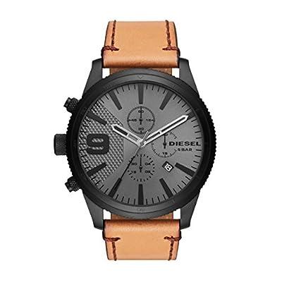 Diesel Reloj Cronógrafo para Hombre de Cuarzo con Correa en Cuero DZ4468