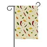 Dozili Bandiera Chili Pattern Home Decoration Garden Flag Resistente agli Agenti atmosferici & Doppio Yard Flag, Poliestere, Colorato, 12.5' x 18'