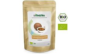 BioNutra Kokosblütenzucker Bio 1500 g, Kokoszucker, nicht raffiniert, natürlicher Blütenzucker aus kontrolliert biologischem Anbau.