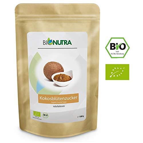 BioNutra Kokosblütenzucker Bio 1500 g, Kokoszucker, nicht raffiniert, natürlicher Blütenzucker...