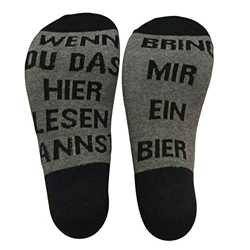 Meifyomng Brief Bestickt lustige Baumwolle Socken Baumwolle Sportsocken für Business, Sports, Freizeit, Täglicher Gebrauch(Average)