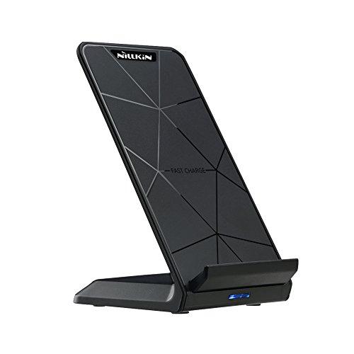 Wireless Charger Fast Induktive Ladestation, Qi kabelloses Ladegerät für Samsung Galaxy S9/ S8/ S8 Plus/ Note 8/ S7/ S6 Edge Plus/Note 5, iPhone X/ iPhone 8/ 8 Plus und anderen Qi-fähige Geräte