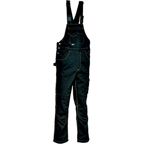 Cofra V000-0-05.Z52 Latzhose Pocket, Schwarz / Schwarz, Größe 52