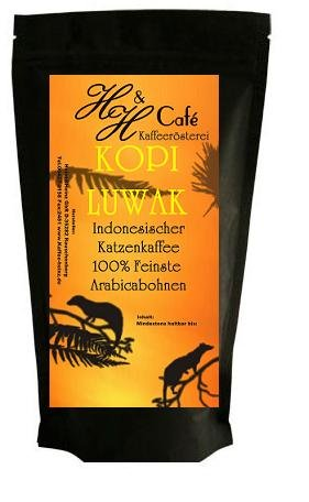 Katzenkaffee KOPI LUWAK von frei lebenden Tieren 60 g