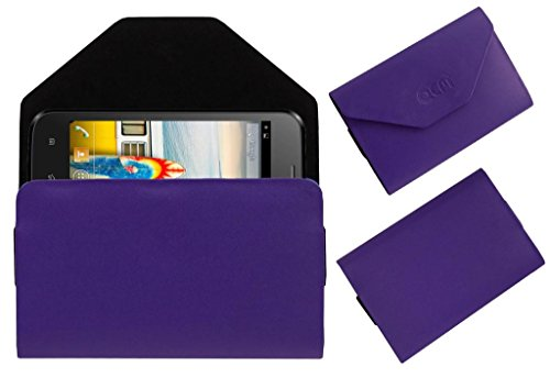 Acm Premium Pouch Case For Micromax Bolt A66 Flip Flap Cover Holder Purple  available at amazon for Rs.329
