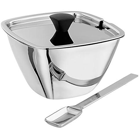 Stellar Lugano Teaware Sugar Bowl con coperchio e cucchiaio
