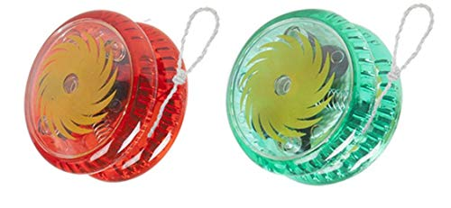 2er Pack YOYO Magic Spinner Trick Kinderauto Light Up Clutch Trick mit String (Kunststoff)