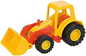 Lena Mini Compact Tractor with Shovel vehículo de Juguete - Vehículos de Juguete (Gris, Rojo, Camión, De plástico, Interior / Exterior, 3 año(s), Niño)