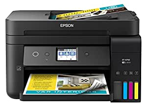 Epson Workforce EcoTank Wireless Color All-in-One Supertank Printer with Scanner, Copier, Fax and Ethernet (Black)