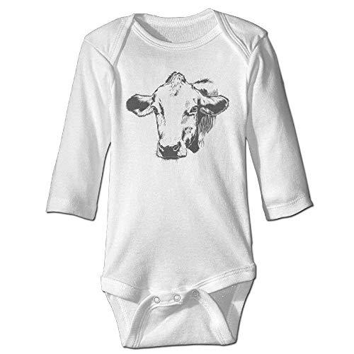 s Baby Jungen Mädchen Babybody Lange Ärmel Cow Sketch Baby Unisex Bodysuits Long-Sleeve Onesies ()