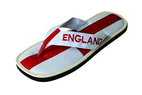 "Nawemo Zimt-Flip-Flop ""England"" Weiß/Rot"
