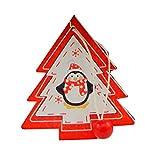 Ouken Weihnachten Dekoration Pinguin Weihnachten Weihnachtsbaum Anhänger Urlaub Dekoration 3 PCS