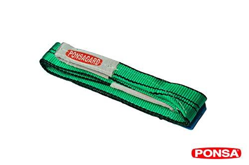 2t-1m-Bandschlinge-aus-Polyester-60-mm-breit-1m-lang-trgt-2000-kg-mit-PONSARGARD-Finish-zum-Schutz-vor-Schnitten-und-Abnutzung-Grn-030161001402