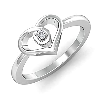 Stylori 18k White Gold and Diamond Corazon Enchanted Ring