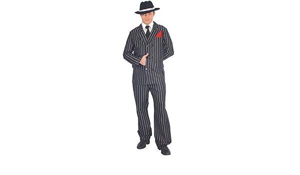 nero da uomo bianco anni  20 a strisce Gangster Abito BUGSY MALONE Costume  vestito taglia large  Amazon.it  Giochi e giocattoli 97ddd0ab798