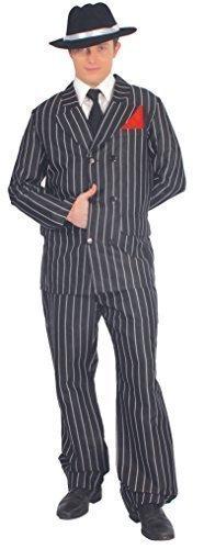 1920s Nadelstreifen Gangster Anzug Bugsy Malone Kostüm Kleid Outfit Größe L (1920 Anzug)