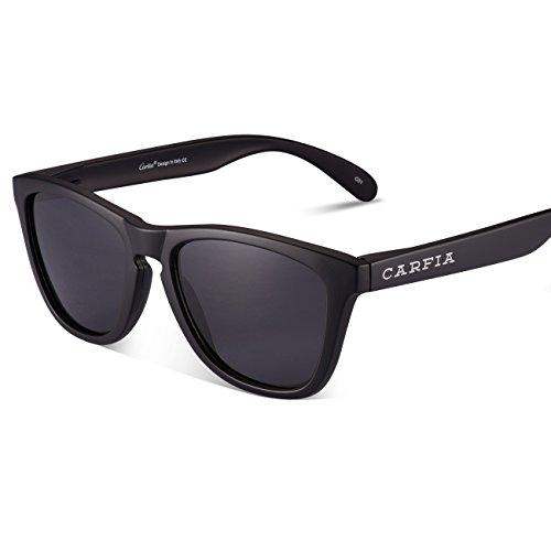 Gafas de Sol, Carfia Gafas de Sol Unisex Polarizadas con 100% Prtección UV400 para Viaje y Depoete al Aire Libre A