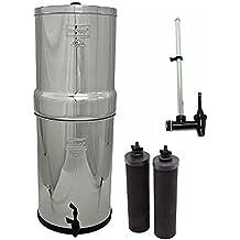 Crown Berkey Water Filter- 2 Black Berkey Filters and Water View Spigot by Berkey