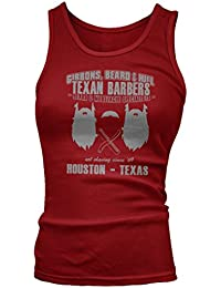 ZZ Top inspired Gibbons Beard and Hill Texan Barbers Débardeur, Femmes