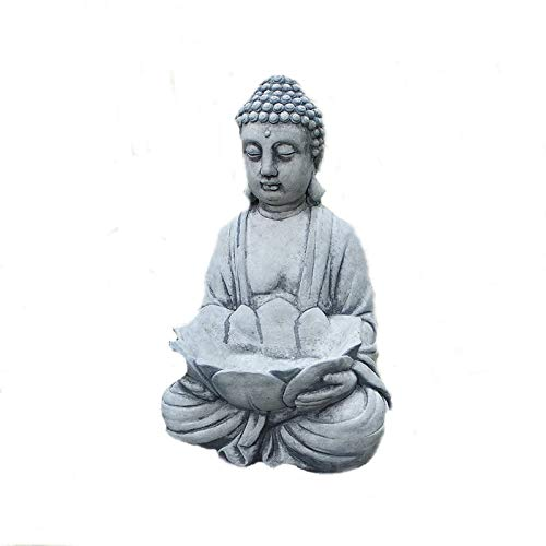 Steinfigur massiver Buddha mit Pflanzschale Pflanzgefäß Shiva Garten Frostfrei Steinguss