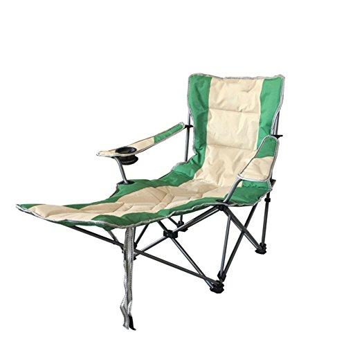 HM&DX Plein air Chaises pliantes Avec repose-pieds Rembourré Chaise lounge Chaise longue pliante inclinables Heavy duty Réglable Pour Jardin camping pêche randonnée picnic -vert