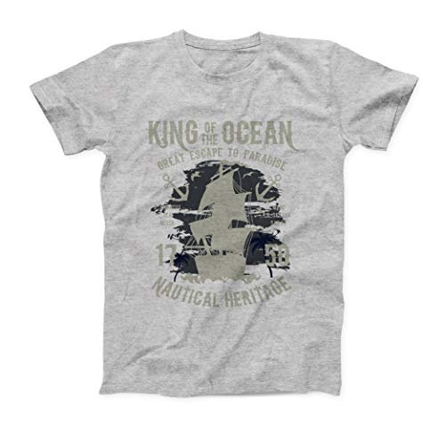 King of The Ocean Great Escape To Paradise T-Shirt - Uomo - Grigio - XL