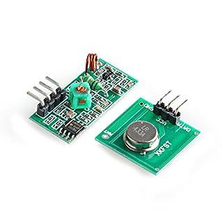 Aukru 433 MHz RF Wireless Transmitter + Receiver Module Kit for Arduino Raspberry Pi
