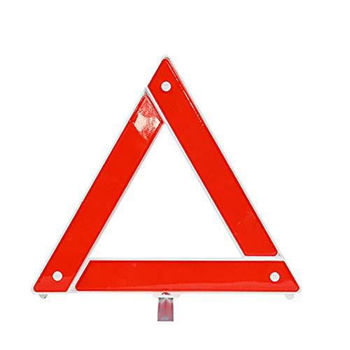 collectsound Reflektierendes Warnschild, faltbar, dreieckig, Notfallwerkzeug - Rot