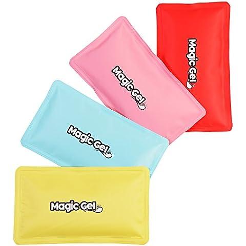 2 Compresas de Gel Frío/Calor Premium (re-usables) con Bandas Ajustables al Cuerpo y una Bolsa para su Almacenamiento de MagicGel (Rosa)
