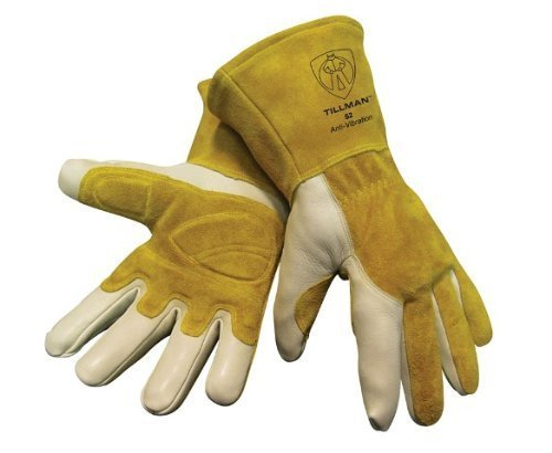 Tillman 52 Top Grain Cowhide Anti-Vibration MIG Welding Gloves, Medium