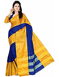 Harsh Sarees Cotton Saree With Blouse Piece (Yash-2129_Blue_Free Size)