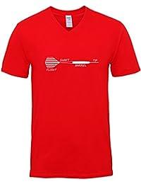 Hippowarehouse Dart Anatomy Flight Shaft Barrel Tip Unisex V-Neck Short Sleeve t-Shirt (Specific Size Guide In Description)